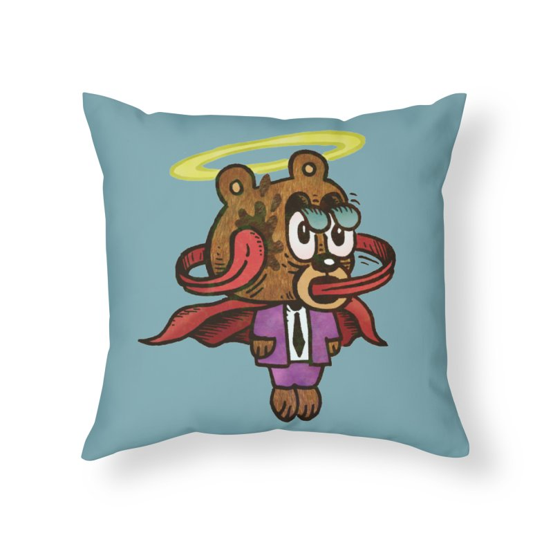 Super Duper Bear Home Throw Pillow by vtavast's Artist Shop