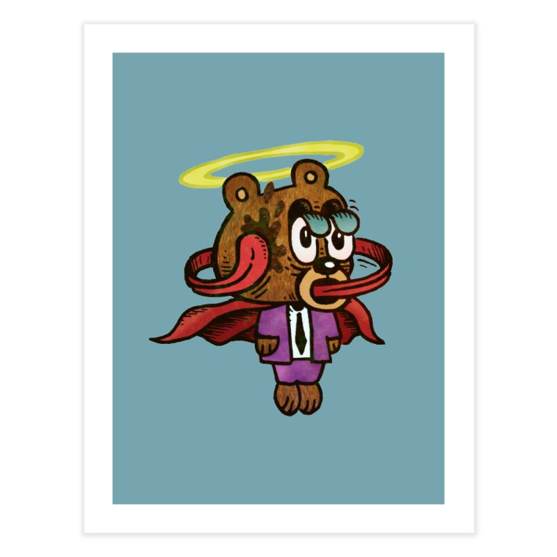 Super Duper Bear Home Fine Art Print by vtavast's Artist Shop