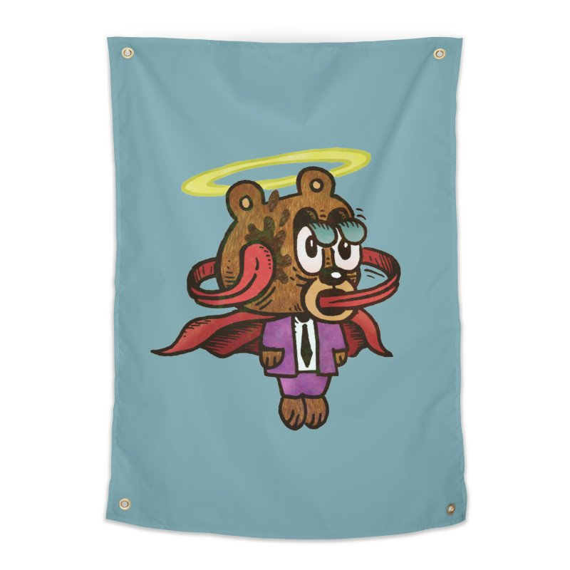 Super Duper Bear Home Tapestry by vtavast's Artist Shop