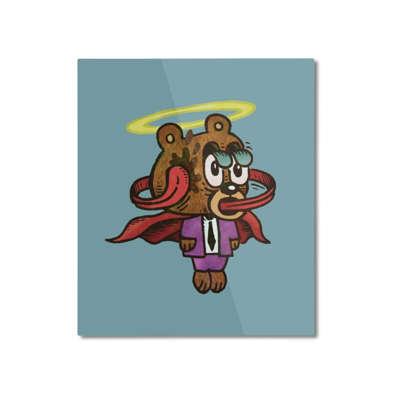Super Duper Bear Home Mounted Aluminum Print by vtavast's Artist Shop
