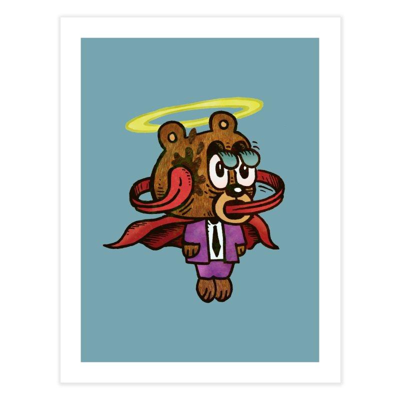 Super Duper Bear Home Fine Art Print by vtavast's Artist Shop