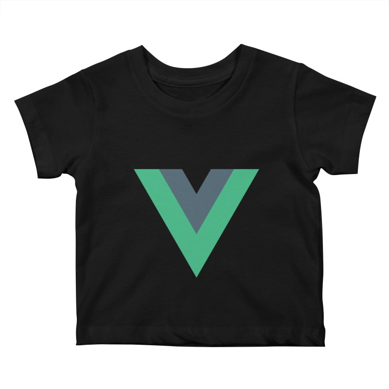 Vue Logo Kids Baby T-Shirt by The Vue Shop