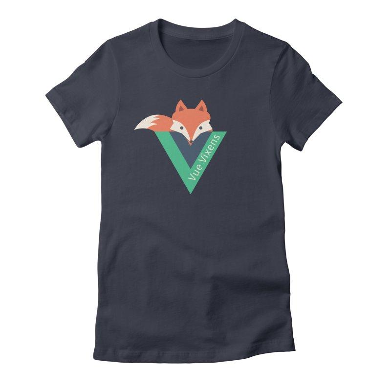 logo Women's Fitted T-Shirt by Vue Vixens Shop