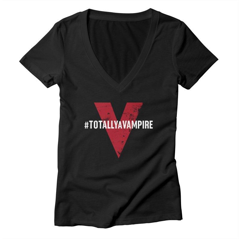 Totally A Vampire (Apparel) Women's Deep V-Neck V-Neck by V WARS
