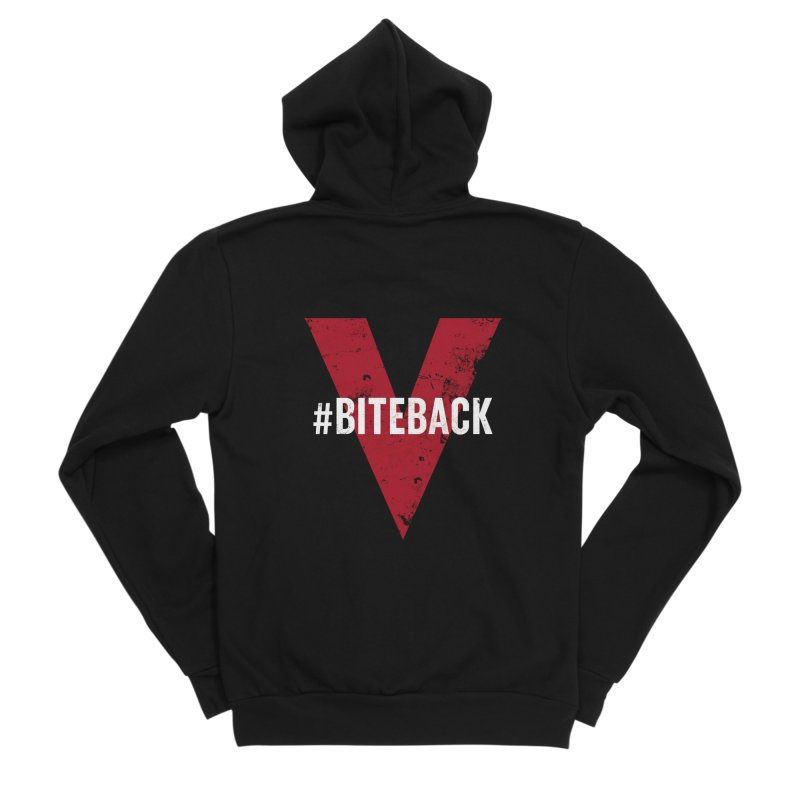 Bite Back (Zip-up Hoodie) in Women's Sponge Fleece Zip-Up Hoody Black by V WARS