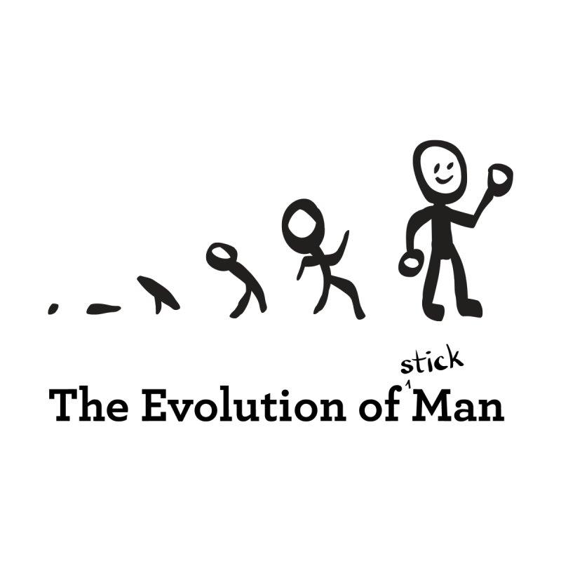 The Evolution of Stick Man Men's Zip-Up Hoody by Wood-Man's Artist Shop