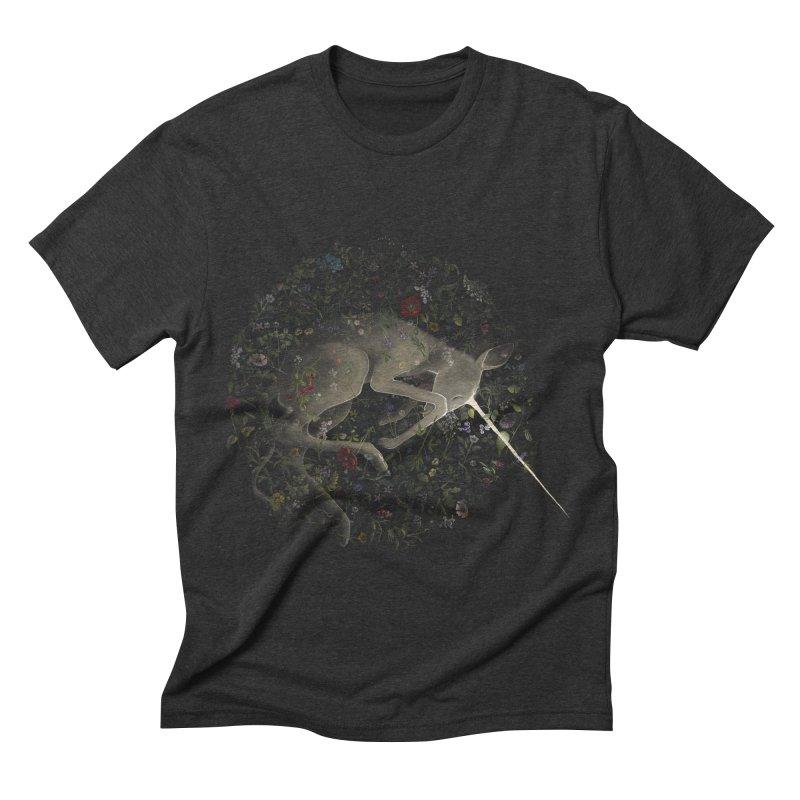 amniotic unicorn Men's Triblend T-shirt by wabisabi's shop