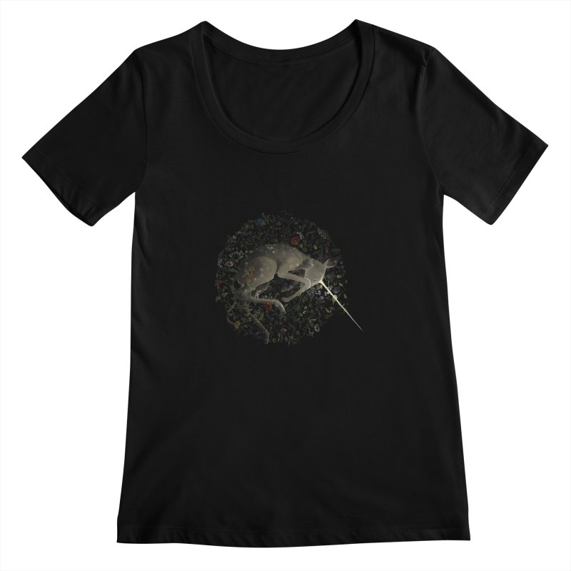 amniotic unicorn Women's Scoopneck by wabisabi's shop
