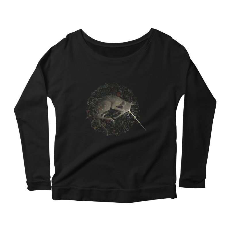 amniotic unicorn Women's Longsleeve Scoopneck  by wabisabi's shop