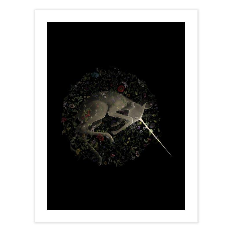 amniotic unicorn Home Fine Art Print by wabisabi's shop