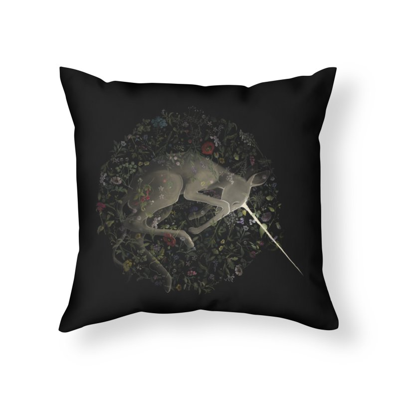 amniotic unicorn Home Throw Pillow by wabisabi's shop