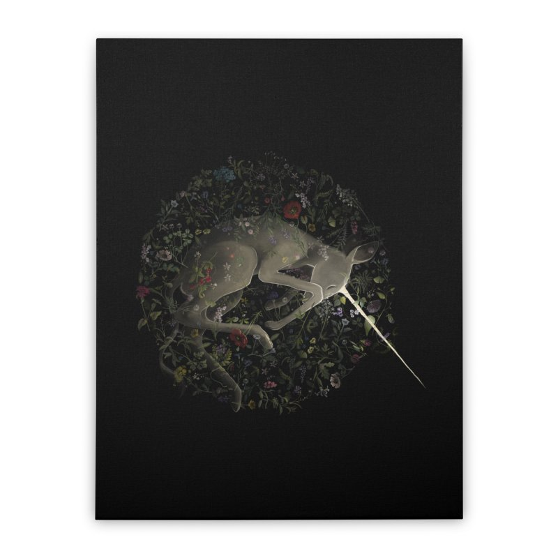 amniotic unicorn Home Stretched Canvas by wabisabi's shop