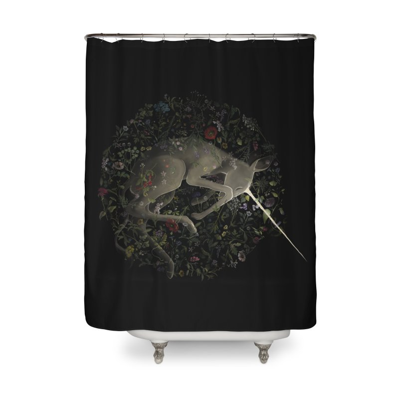amniotic unicorn Home Shower Curtain by wabisabi's shop