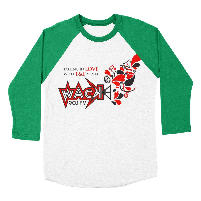 WACK Carnival 2018 Logo Women's Baseball Triblend Longsleeve T-Shirt by WACK 90.1fm Merchandise Store