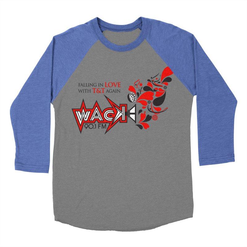 WACK Carnival 2018 Logo Men's Baseball Triblend Longsleeve T-Shirt by WACK 90.1fm Merchandise Store
