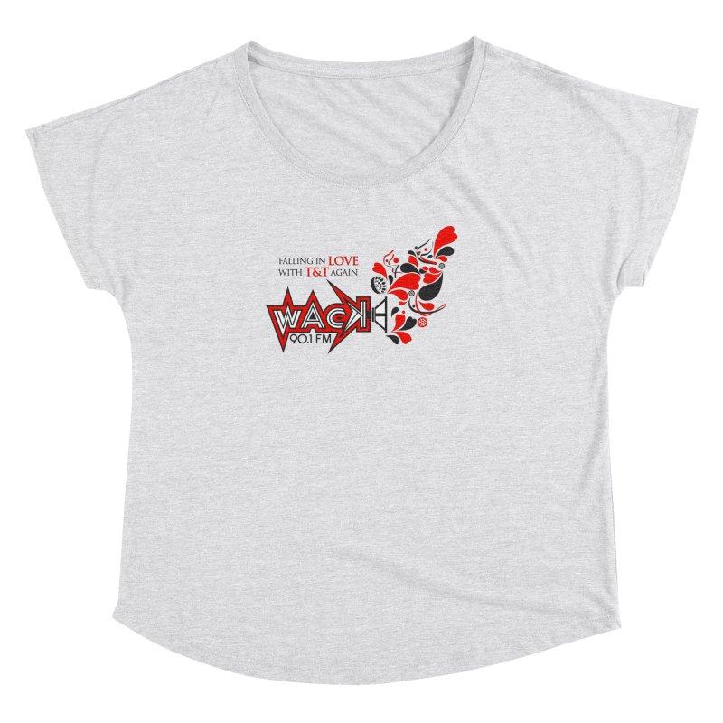 WACK Carnival 2018 Logo in Women's Dolman Scoop Neck Heather White by WACK 90.1fm Merchandise Store
