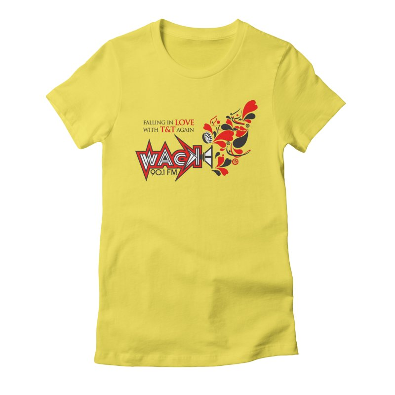 WACK Carnival 2018 Logo in Women's Fitted T-Shirt Vibrant Yellow by WACK 90.1fm Merchandise Store