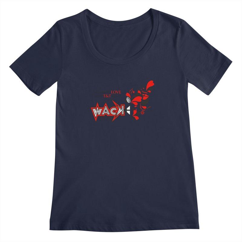 WACK Carnival 2018 Logo Women's Scoopneck by WACK 90.1fm Merchandise Store