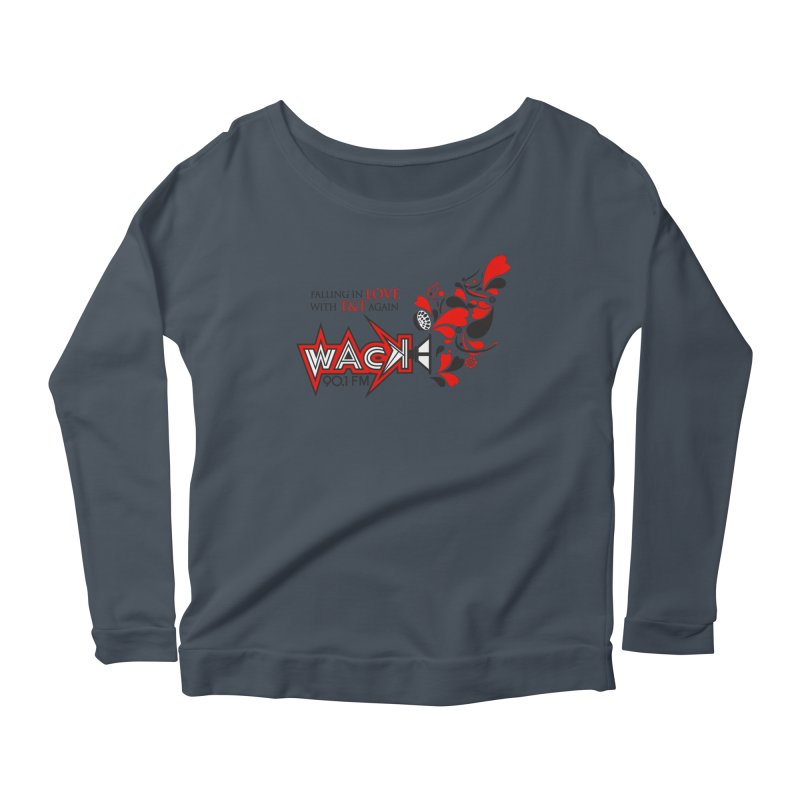 WACK Carnival 2018 Logo Women's Scoop Neck Longsleeve T-Shirt by WACK 90.1fm Merchandise Store