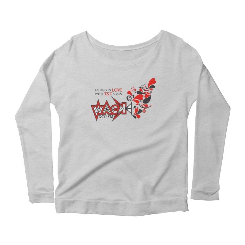 WACK Carnival 2018 Logo Women's Scoop Neck Longsleeve T-Shirt by WACK 90.1fm Merchandise Store