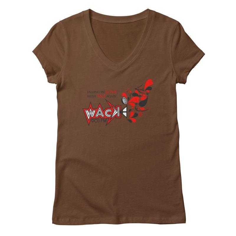 WACK Carnival 2018 Logo Women's Regular V-Neck by WACK 90.1fm Merchandise Store