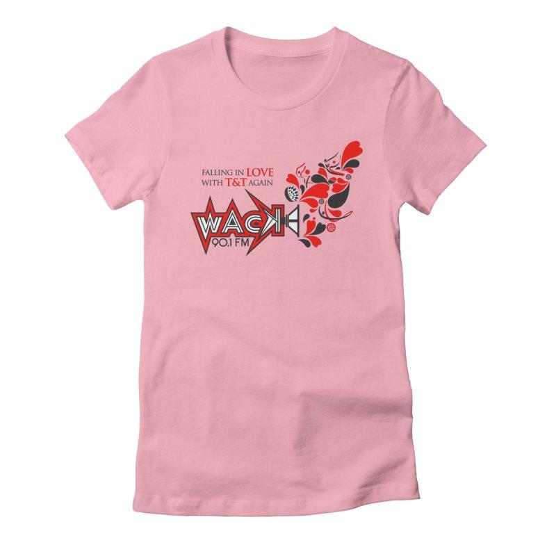 WACK Carnival 2018 Logo in Women's Fitted T-Shirt Light Pink by WACK 90.1fm Merchandise Store