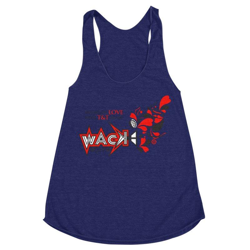 WACK Carnival 2018 Logo Women's Racerback Triblend Tank by WACK 90.1fm Merchandise Store