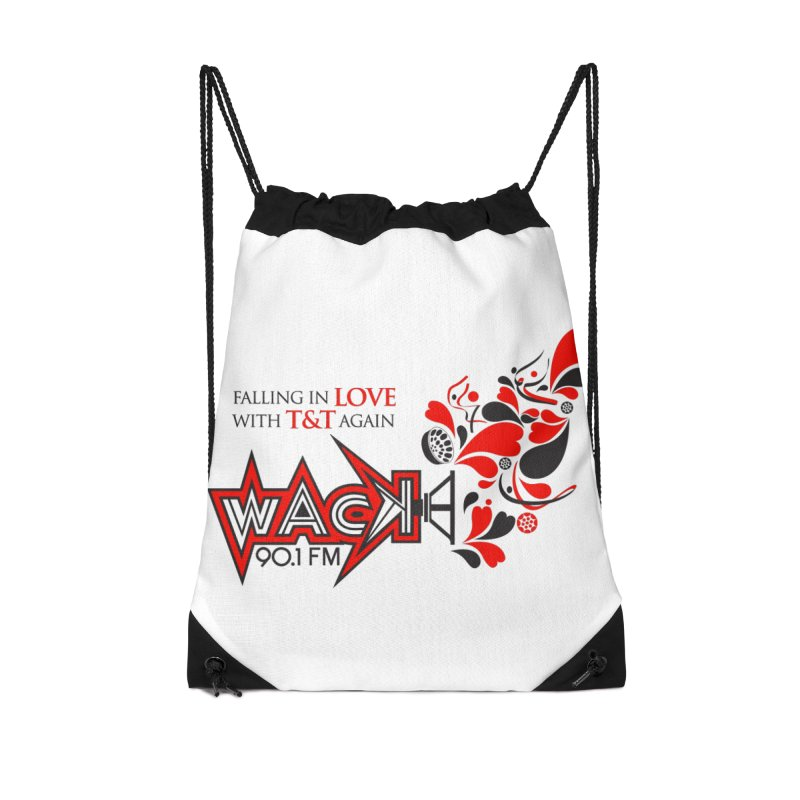 WACK Carnival 2018 Logo Accessories Drawstring Bag Bag by WACK 90.1fm Merchandise Store