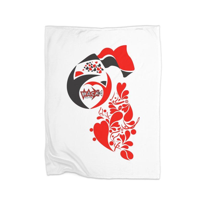 WACK Logo & Hearts no text Home Blanket by WACK 90.1fm Merchandise Store