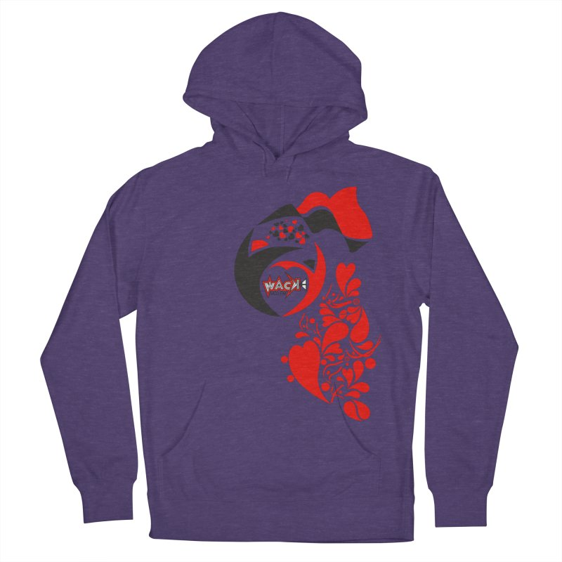 WACK Logo & Hearts no text Women's French Terry Pullover Hoody by WACK 90.1fm Merchandise Store