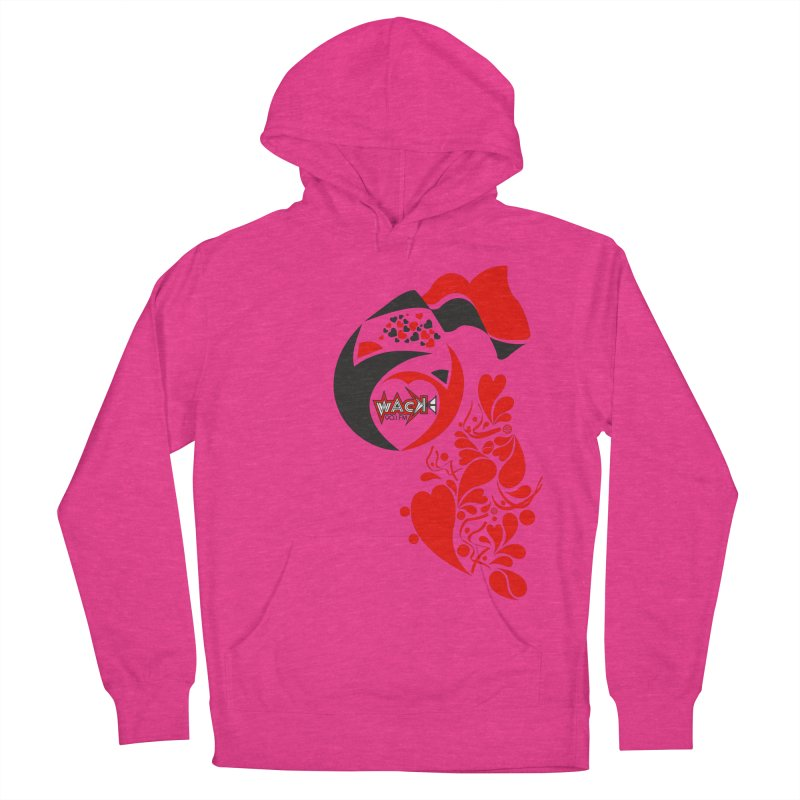 WACK Logo & Hearts no text Women's Pullover Hoody by WACK 90.1fm Merchandise Store