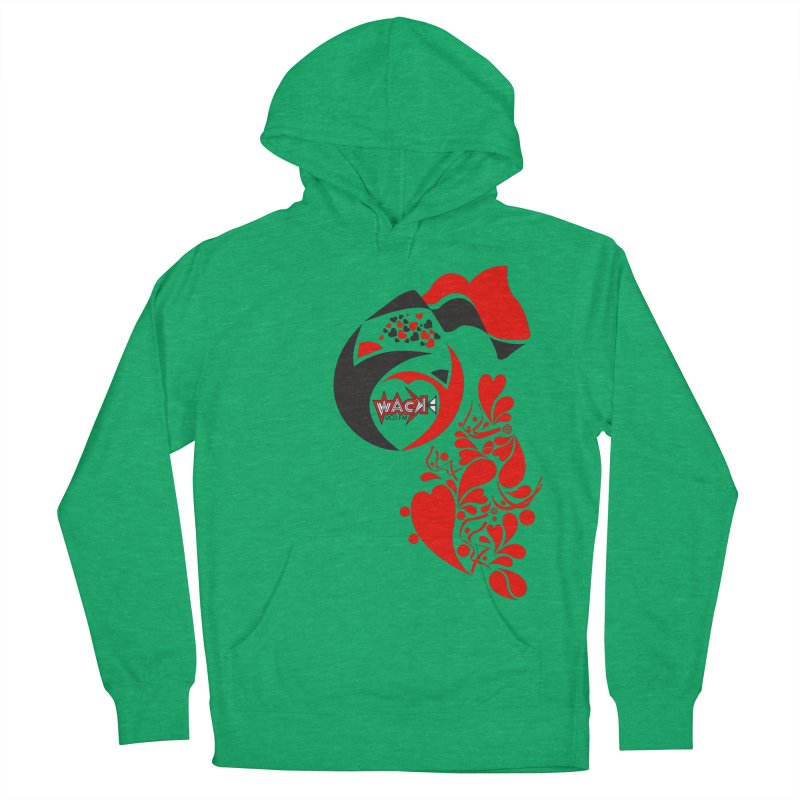 WACK Logo & Hearts no text Men's French Terry Pullover Hoody by WACK 90.1fm Merchandise Store