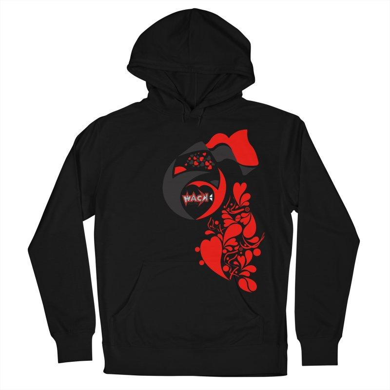 WACK Logo & Hearts no text Men's Pullover Hoody by WACK 90.1fm Merchandise Store