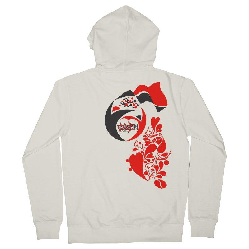 WACK Logo & Hearts no text Women's French Terry Zip-Up Hoody by WACK 90.1fm Merchandise Store