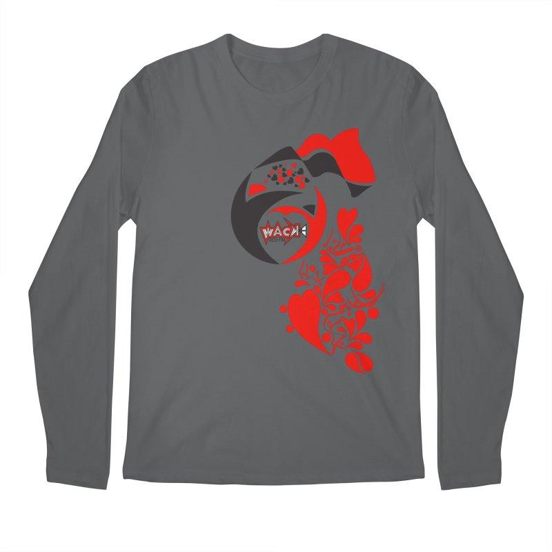 WACK Logo & Hearts no text Men's Regular Longsleeve T-Shirt by WACK 90.1fm Merchandise Store