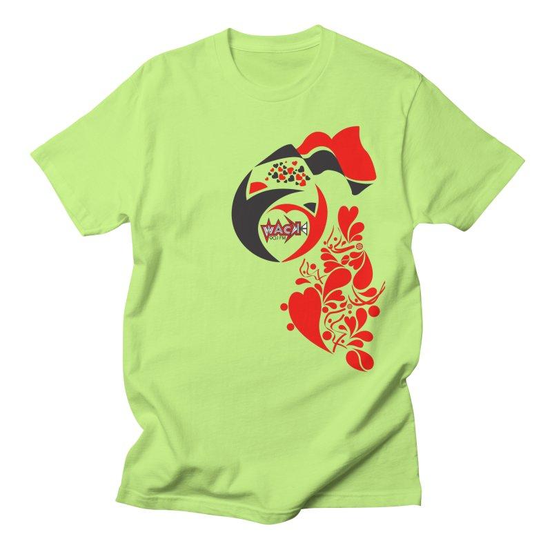 WACK Logo & Hearts no text Women's Regular Unisex T-Shirt by WACK 90.1fm Merchandise Store