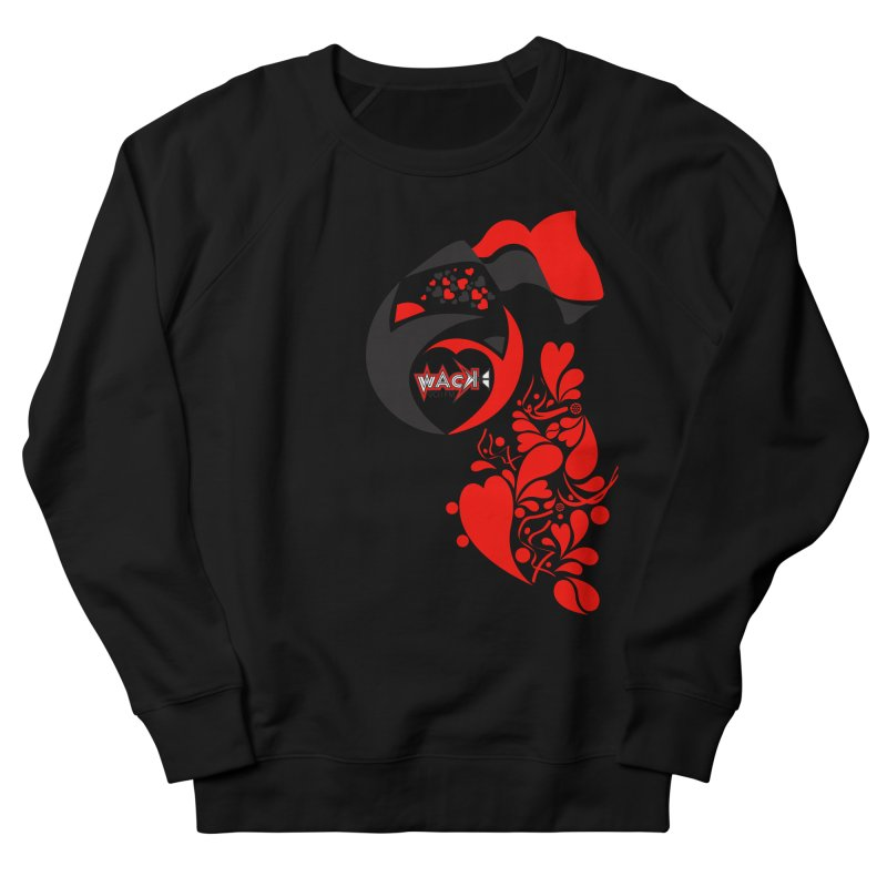 WACK Logo & Hearts no text Women's French Terry Sweatshirt by WACK 90.1fm Merchandise Store