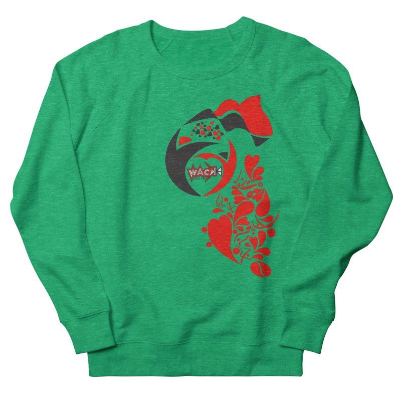 WACK Logo & Hearts no text Men's French Terry Sweatshirt by WACK 90.1fm Merchandise Store