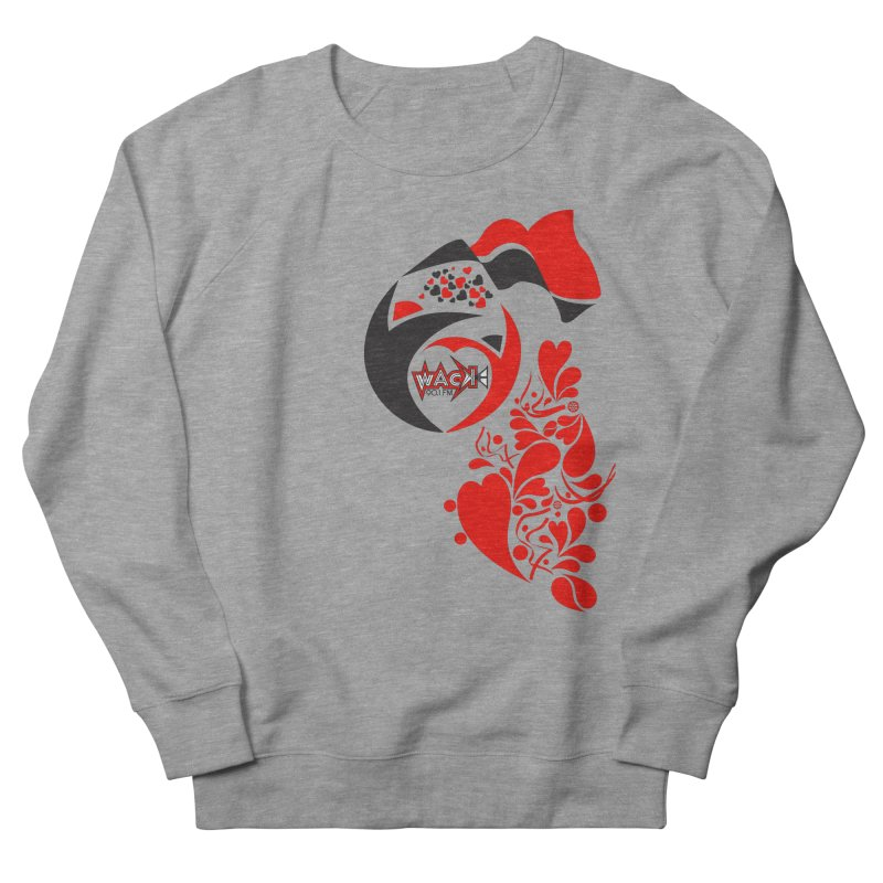 WACK Logo & Hearts no text Men's French Terry Sweatshirt by WACK 90.1fm Merchandise Store
