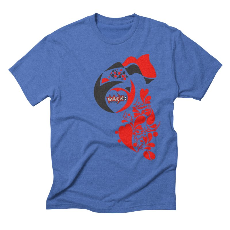WACK Logo & Hearts no text Men's Triblend T-Shirt by WACK 90.1fm Merchandise Store