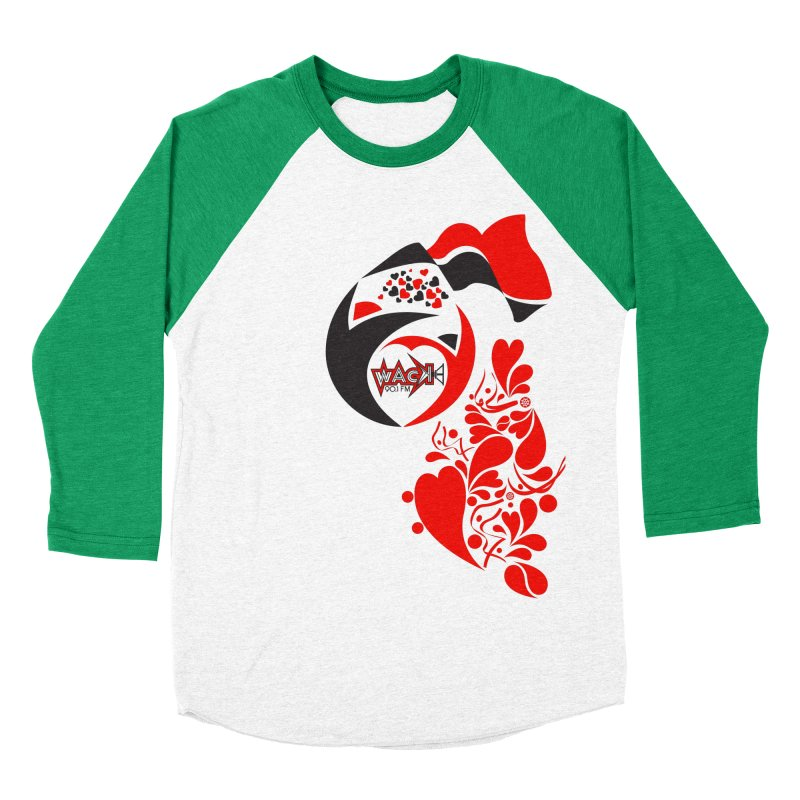 WACK Logo & Hearts no text Women's Baseball Triblend Longsleeve T-Shirt by WACK 90.1fm Merchandise Store