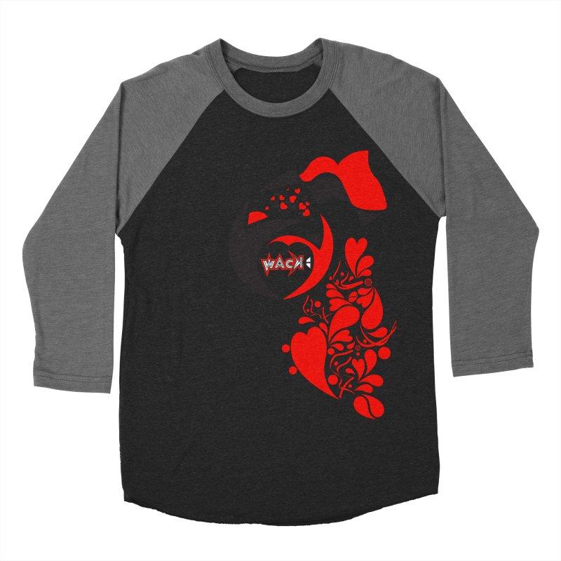 WACK Logo & Hearts no text Men's Baseball Triblend Longsleeve T-Shirt by WACK 90.1fm Merchandise Store