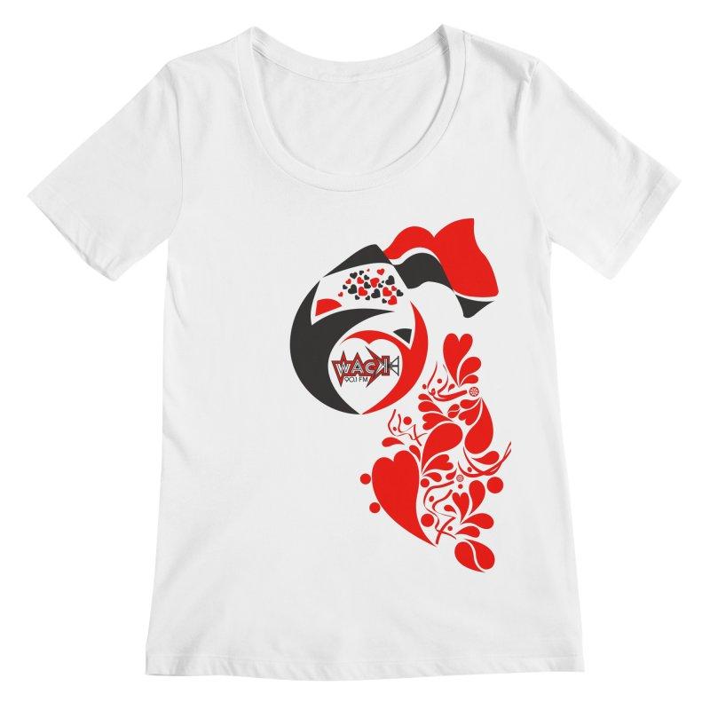 WACK Logo & Hearts no text Women's Regular Scoop Neck by WACK 90.1fm Merchandise Store