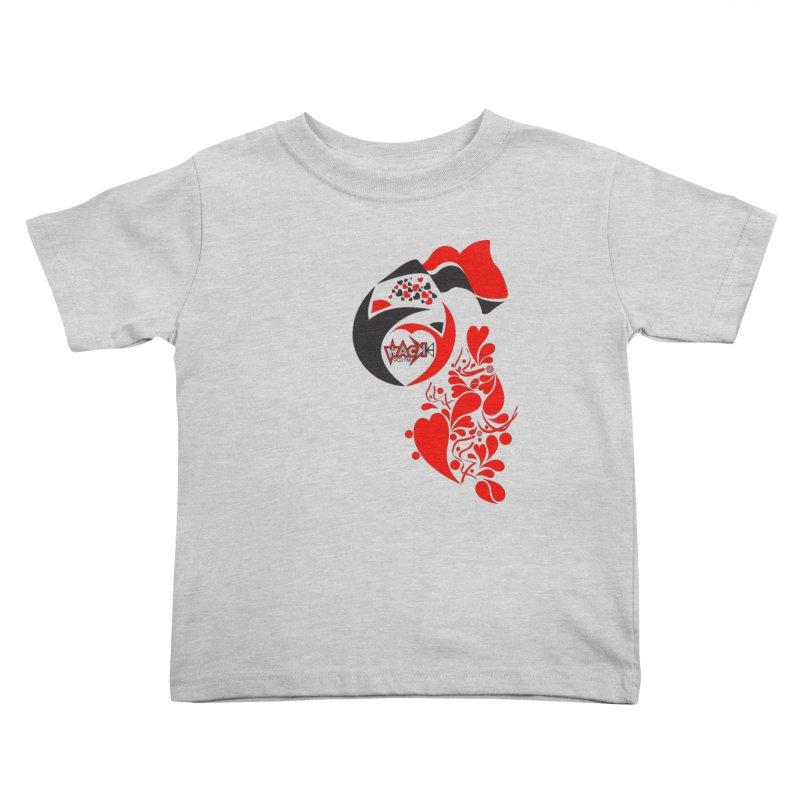 WACK Logo & Hearts no text Kids Toddler T-Shirt by WACK 90.1fm Merchandise Store
