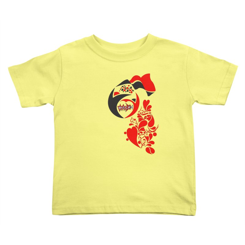 WACK Logo & Hearts no text Kids Toddler T-Shirt by WACK 90.1fm Merchandise Store