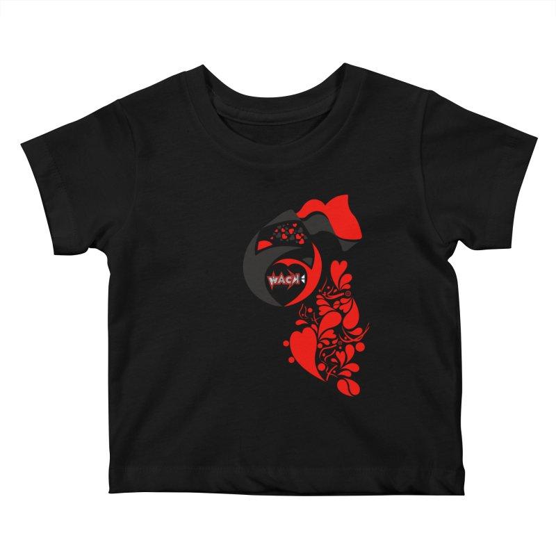 WACK Logo & Hearts no text Kids Baby T-Shirt by WACK 90.1fm Merchandise Store