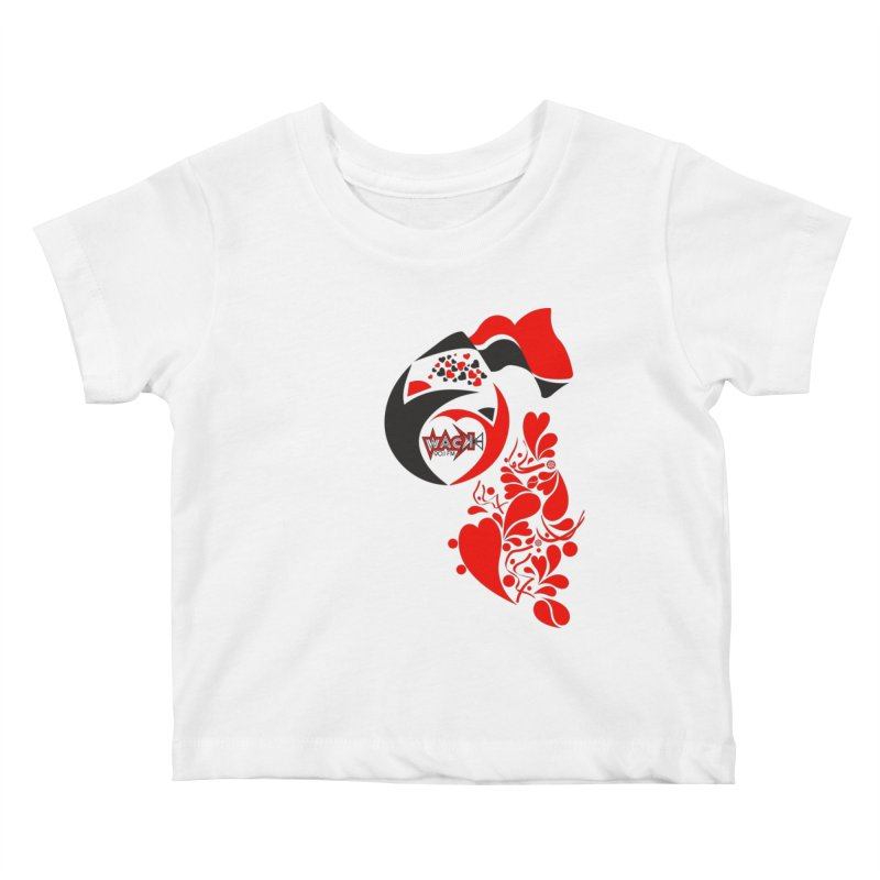 WACK Logo & Hearts no text Kids Baby T-Shirt by WACK 90.1fm Merchandise Store