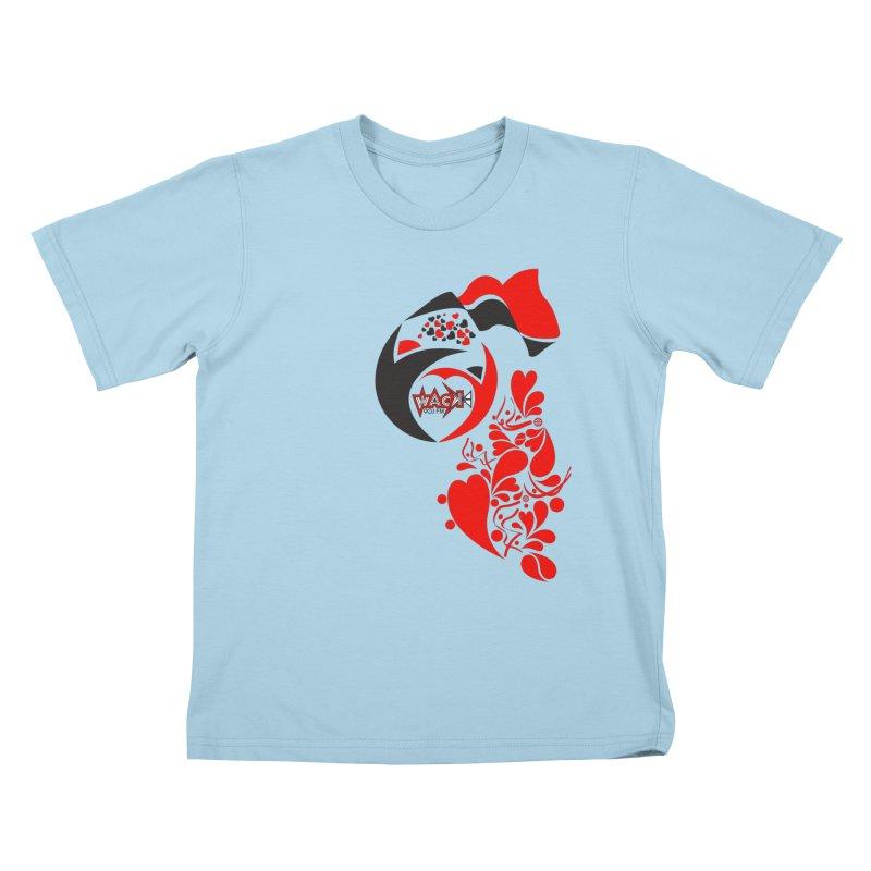 WACK Logo & Hearts no text Kids T-Shirt by WACK 90.1fm Merchandise Store