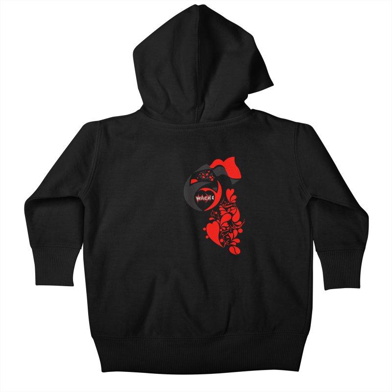 WACK Logo & Hearts no text Kids Baby Zip-Up Hoody by WACK 90.1fm Merchandise Store
