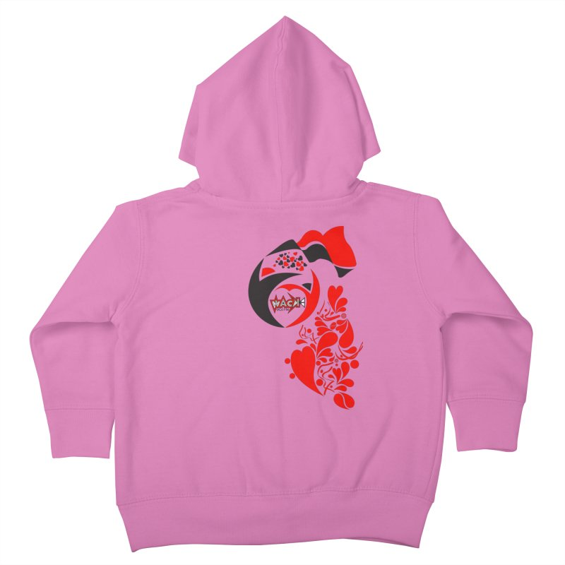 WACK Logo & Hearts no text Kids Toddler Zip-Up Hoody by WACK 90.1fm Merchandise Store